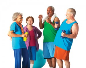 senior exercise stock photo