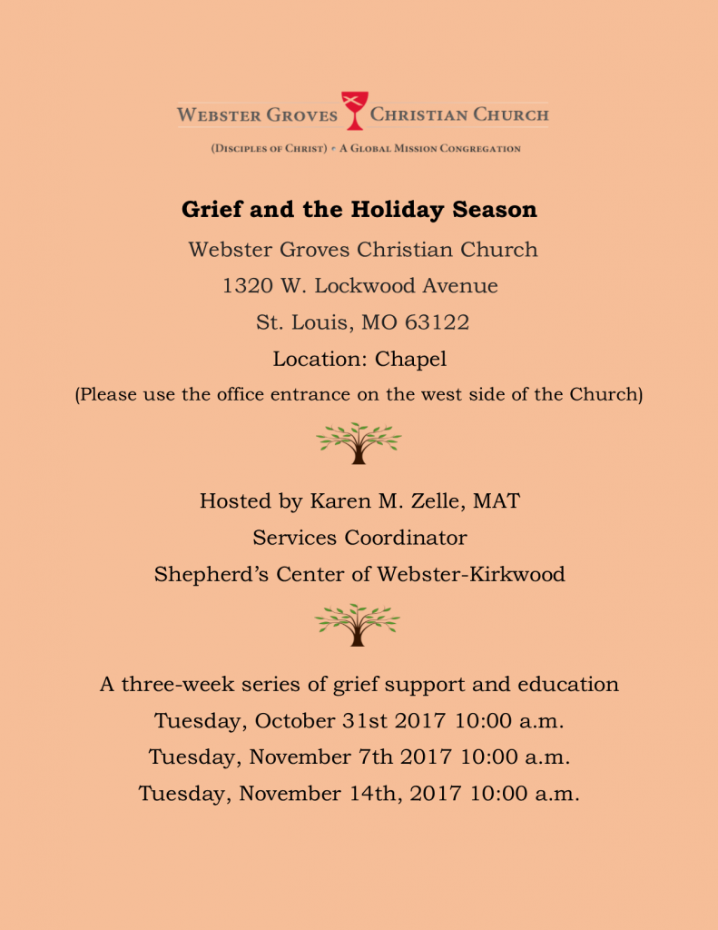 GRIEF SUPPORT GROUP FLYER-holiday grief